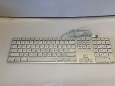Apple A1243 Wired White Aluminum Keyboard With USB Ports Tested/Works