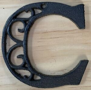 Letter C - Cast Iron Ornate House Craft Indoor Outdoor Scroll Alphabet Letters