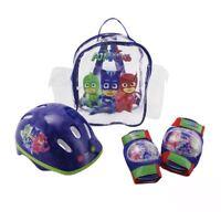 PJ MASKS CHILDRENS KIDS HELMET/KNEE/ELBOW PADS PROTECTION PACK DEEP BLUE S