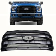 For 15-17 Ford F150 King Ranch Glossy Black Front Grille Insert New Replacement