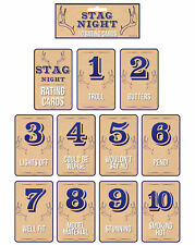 Stag Night Rating Card Game - Groom Fun Party Do Novelty Gift Present Drinking