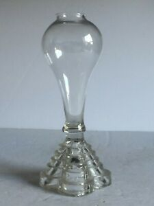 Rare Boston and Sandwich Glass Free Blown Pressed Whale Oil Fluid Lamp 1830 7.5""