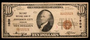 1929 - $10 National Currency Note - Fine