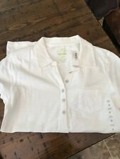 Old Navy White Pocket Women's Short Sleeved Polo NEW!!! Size Small