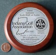 Indiana Golf Hall of Fame Jim Gallagher,Jr Brickyard Crossing Indy 500 award!*