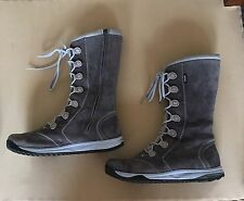 Ladies Grey Suede Teva Winter Boots Size 7.5