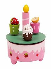 Wooden Musical Box Kids Birthday Cake Music Box Happy Birthday Gifts