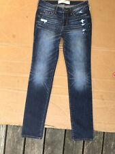 Abercrombie & Fitch The A&F Skinny Destroyed Stretch Jeans size 0R W25 L33