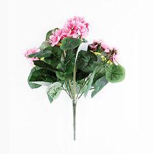 Seda Artificial Rosa Claro Posición Vertical Geranium Arbusto 38cm