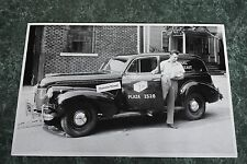 """12 By 18"""" Black & White Picture 1940 Chevrolet Sedan Delivery 3/4 Front View"""