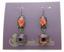 Premier Designs Bejeweled Topaz Rhinestone Gold Tone Dangle Earrings 30558