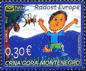 MONTENEGRO / 2017, Joy of Europe - Children's drawing, MNH