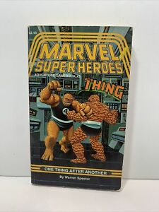 MARVEL SUPER HEROES ADVENTURE THE THING GAMEBOOK #5 ONE THING AFTER ANOTHER 1987