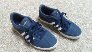 Adidas Neo Blue Suede Sneakers. Womens Size 6.5 UK 5 Europe 38 Japan 235