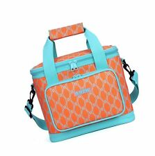 MIER 16 Can Large Insulated Lunch Bag for Women Soft Leakproof Liner Orange