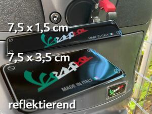 Vespa Aufkleber 3-D-Epoxyd-Harz - 2er-Set - Emblem Sticker GTS LX Primavera usw.