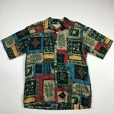 Tori Richards Mens Abstract Hawaiian Shirt Button Down Short Sleeve Large