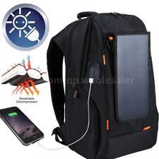 USB Waterproof Breathable Charging Backpack Camera .Travel Bag+Solar Panel C2D7