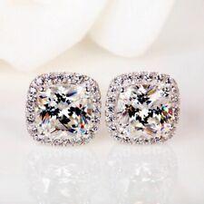 pendientes lujo de plata con circonitas con circonio cúbico simil diamante para