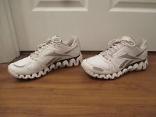 Used Worn Size 13 Reebok Zigtech Zig Dynamic Shoes White Silver Black