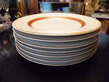 Set of 4 Fitz & Floyd BORDURE ROUGE Salad Plates Unused Condition!