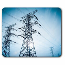 Computer Mouse Mat - Voltage Towers Power Wires Electric Office Gift #16583