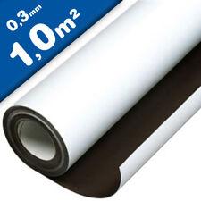 Magnetfolie weiß matt beschichtet 0,3mm x 100cm x 100cm – Meterware