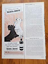 1961 Black White Scotty Scottish Terrier Westie Dog Ad