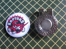 GOLF / Toronto Raptors Logo Golf Ball Marker/with Magnet Hat Clip New!!