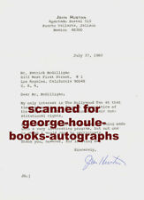 JOHN HUSTON~LETTER  -AUTOGRAPH - COMMENTS  ON HOLLYWOOD TEN