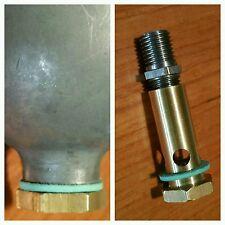 1x BOWL SCREW PLAIN assembly AMAL WASSELL Mk1 type carburettor drain 600 900 Hex