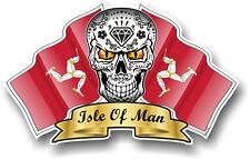 Mexican Sugar Skull & Isle of Man Mann maanx Drapeaux de voiture Casque TT Autocollant Decal