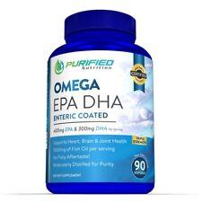 Purified Nutrition Omega 400mg EPA 300mg DHA Enteric Coated 90 caps Fish Oil