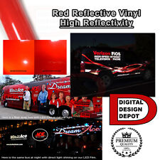 """Red Reflective Vinyl Adhesive Cutter Sign Hight Reflectivity 24"""" x 1 ft"""