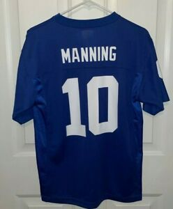 New York Giants - Eli Manning #10 - Youth Large Jersey Blue NFL Players  - NWOT