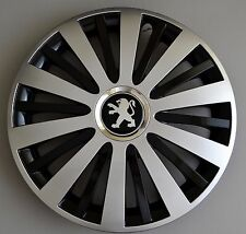 "15"" Peugeot 207,308,Partner,306,605... Wheel Trims / Covers, Hub Caps,black&silv"