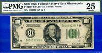 *Ultra Rare 1928 $100 FRN (( Minneapolis )) PMG Very-Fine 25 # I00059246A