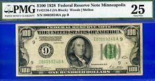 Ultra Rare 1928 $100 FRN (( Minneapolis )) PMG Very-Fine 25 # I00059246A
