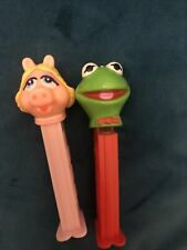 More details for vintage rare kermit and miss piggy muppets pez 1991