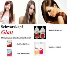 "SCHWARZKOPF GLATT STRAIT PERMANENT STRAIGHT HAIR CREAM Formula No ""O"" and ""2"