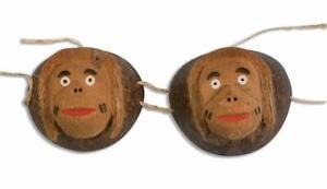 Coconut Monkey Costume Bra Adult Standard