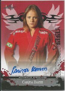 Carina Damm 2010 Leaf MMA Red Autographs Card # AUCD1 UFC