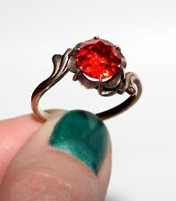 ROYAL BEAUTY Vintage USSR Silver Gold plated Ruby stone ring RARE