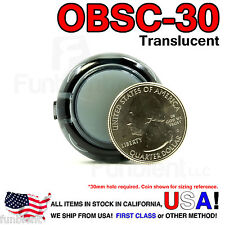 Sanwa Original OBSC-30 Black Translucent Push Button JAMMA guitar killswitch