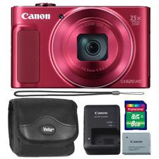 Canon PowerShot SX620 20.2MP HS Digital Camera (Red) + 8GB Memory Card & Case