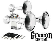 Grand General 69991 Chrome Heavy Duty Train Horn Triple Brass Trumpets
