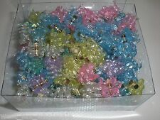 Mini Round Flower Shiny Glittery Cute Plastic Hair Snap Claw Styling 2880 Clips