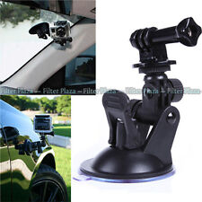 "Car Suction Cup +1/4"" Tripod Mount Adapter+Screw for GoPro HD Hero 2 3+ 4 Camera"