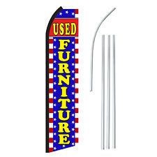 Used Furniture Advertising Sign Swooper Feather Banner Flag Amp Pole Only