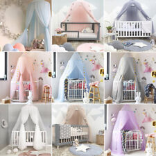 Kids Girls Bed Canopy Mosquito Net Dome Princess Round Lace Baby House Play Tent